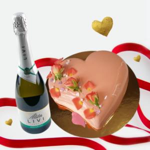 Heart + champagne